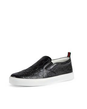 Dublin Signature Leather Slip On Sneaker Ayakkabi, Siyah