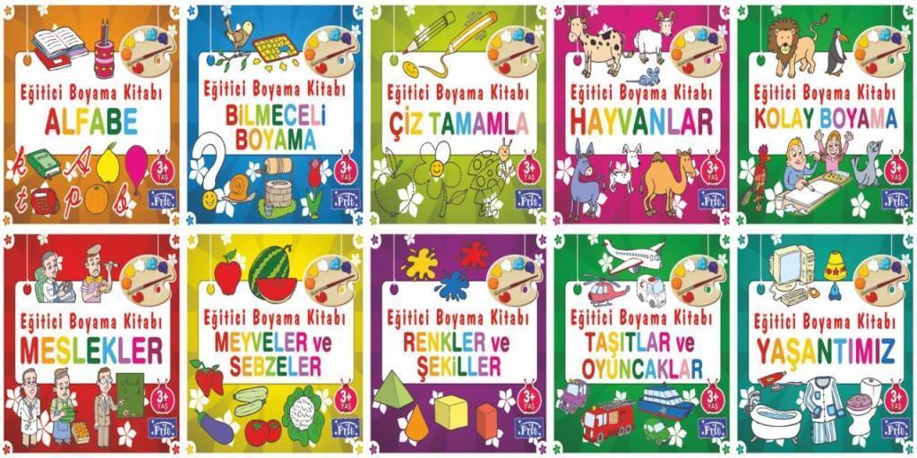 Eğitici Boyama Kitabı Serisi 10 Kitap Ahmet Altay Parıltı