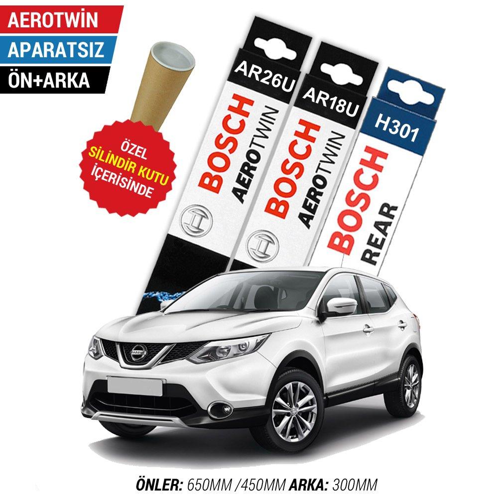 Nissan Qashqai On Arka Silecek Seti 2014 2019 Bosch Aerotwin