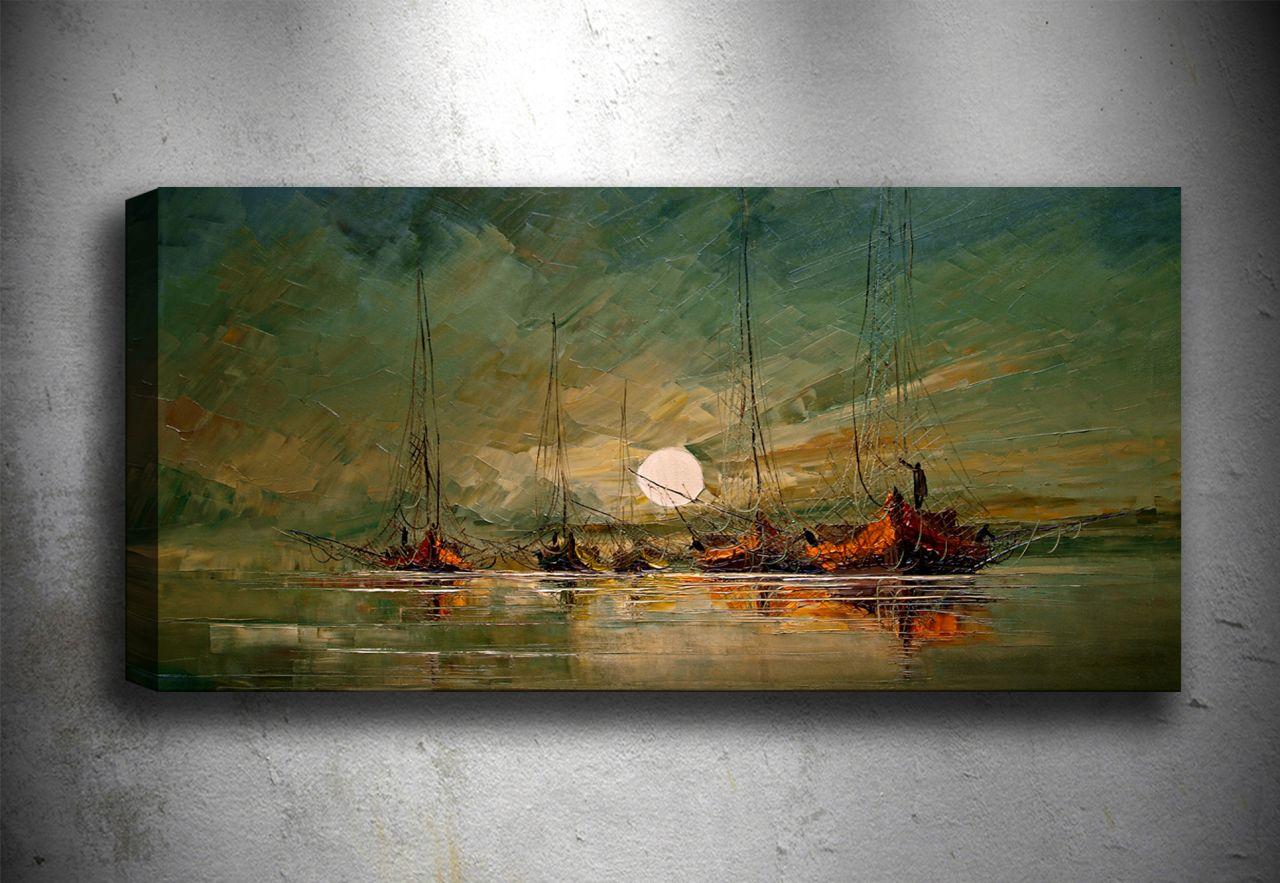 modern gemi yağlı boya tablo | yaĞli boya tablolar | tablocenter