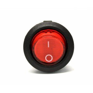 Electroon Yuvarlak Işıklı Anahtar 20x28mm 3pin