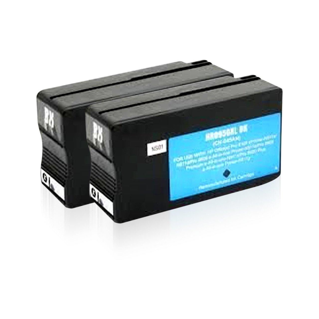 2 ADET HP 950XL UYUMLU SİYAH KARTUŞ - Pro 8600 Plus/ Pro 251/ Pro 276/ Pro 8100/ 8610/ 8620