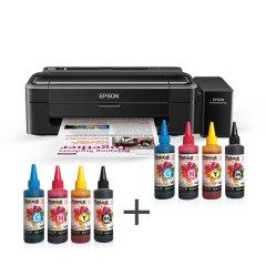 Epson L130 Photoink Mürekkepli 4 Renk Bitmeyen Kartuşlu (1 Sayfa Renkli Baskı  0,01 TL) (1 Set Mürekkep Hediyeli)
