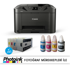 Canon Maxify MB5050 ve Kolay Dolan Kartuş Sistemi (renkli Fotokopi,Tarayıcı,Yazıcı)