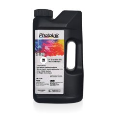 RICOH GEN5 / KONICA 512/1024 Kafalar için 1000 ml BEYAZ WHITE UV Mürekkep (Sert ve Yumuşak Zemin) T-R5F