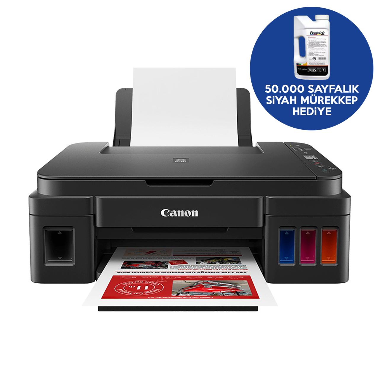 Canon G2411 Yazıcı ve 50.000 Sayfalık Siyah Photoink Mürekkep Hediyeli