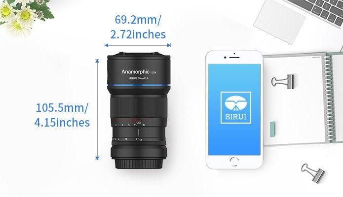 Sirui 50mm f/1.8 Anamorphic Lens (MFT Mount)