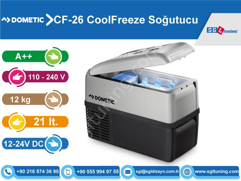 dometic waeco cf 26 coolfreeze 21 lt kompres rl so utucu. Black Bedroom Furniture Sets. Home Design Ideas
