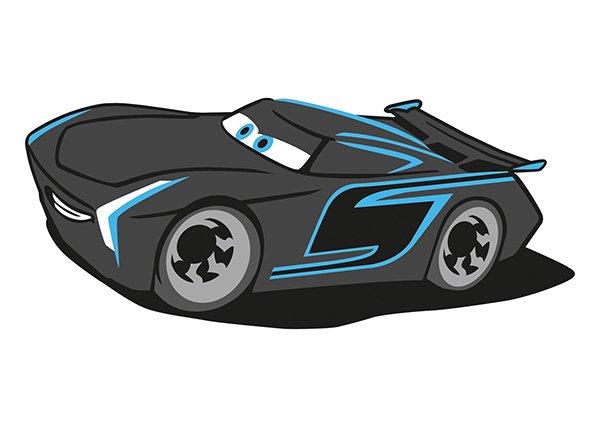 411 Jackson Storm Cars 3 Disney M Lisansli Kartlar Kirmizi